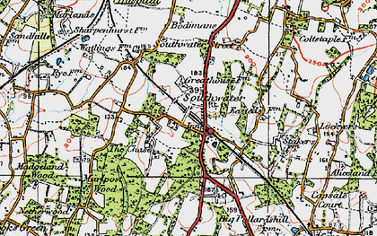Old map of Southwater in 1920
