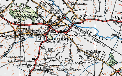 Old map of Southwell in 1921