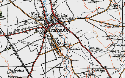 Old map of Sowerby in 1925