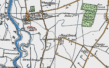 Old map of Wigsley Wood in 1923
