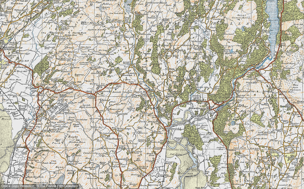 Old Map of Historic Map covering Thurston Ville in 1925