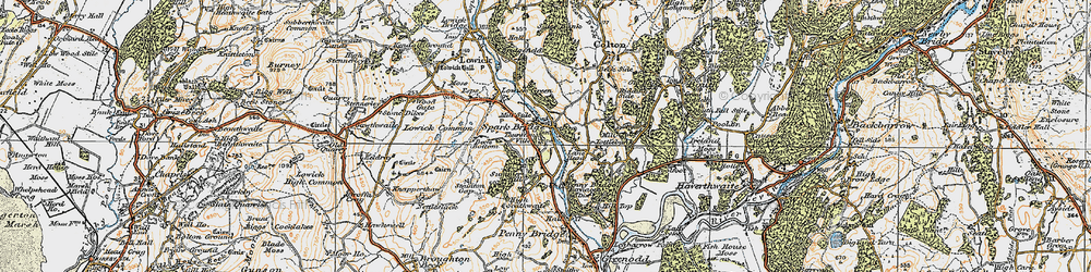 Old map of Thurston Ville in 1925