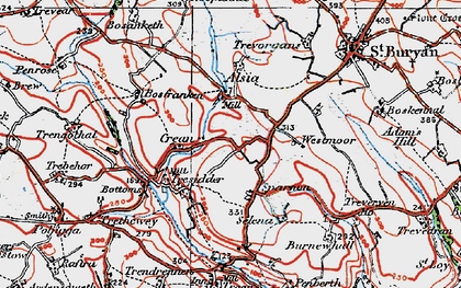 Old map of Sparnon in 1919