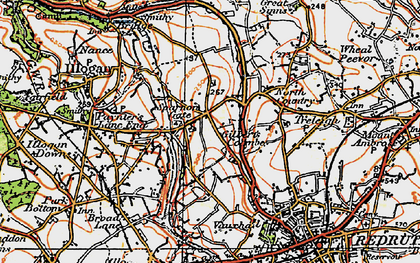 Old map of Sparnon Gate in 1919