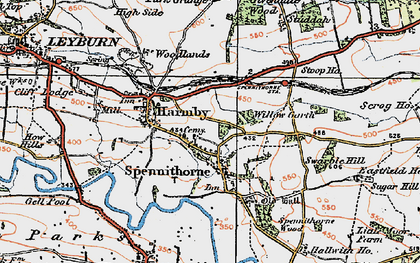Old map of Spennithorne in 1925
