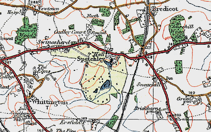 Old map of Spetchley in 1919
