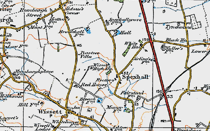 Old map of Aldous's Corner in 1921