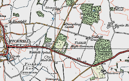 Old map of Tickhill Grange in 1923