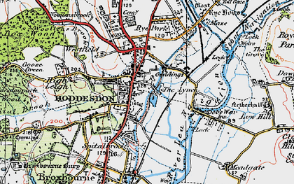 Old map of Spitalbrook in 1919
