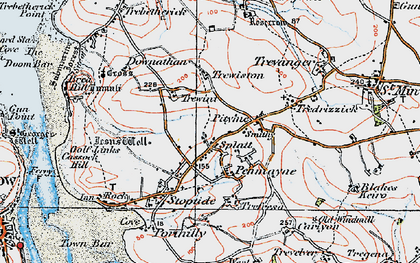 Old map of Splatt in 1919