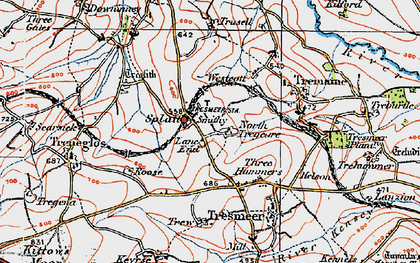 Old map of Splatt in 1919