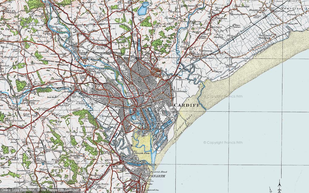 Old Map of Splott, 1919 in 1919