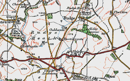 Old map of Alder Coppice in 1921