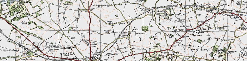 Old map of Wolferton Ho in 1921