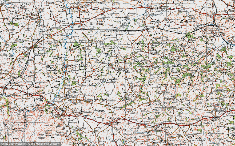 Old Map of Historic Map covering Allison in 1919