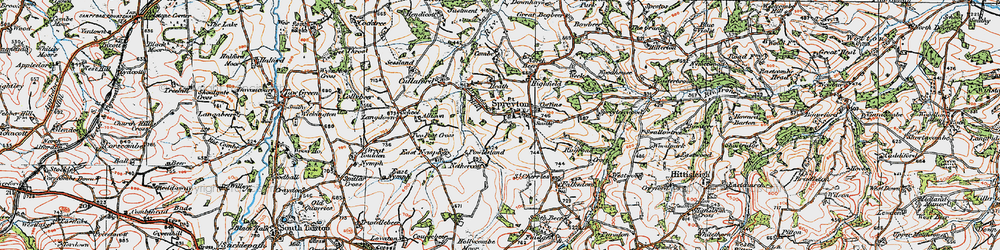Old map of Allison in 1919