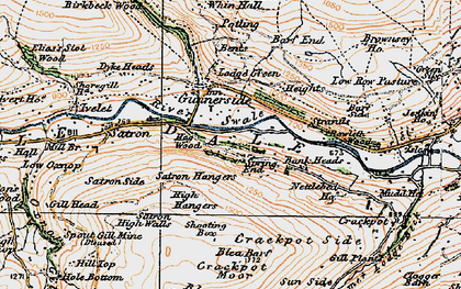 Old map of Bank Heads in 1925