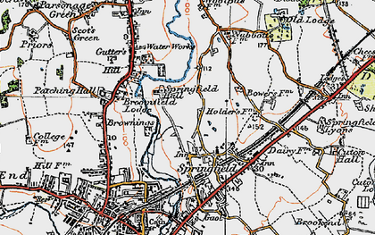 Old map of Springfield in 1921