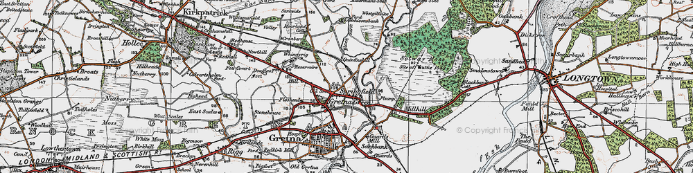 Old map of Westgillsyke in 1925