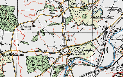 Old map of Sprotbrough in 1923