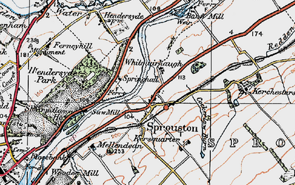 Old map of Whitmuirhaugh in 1926