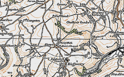 Old map of St Ann's Chapel in 1919