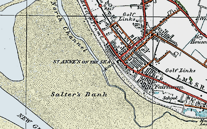 Old map of St Annes in 1924