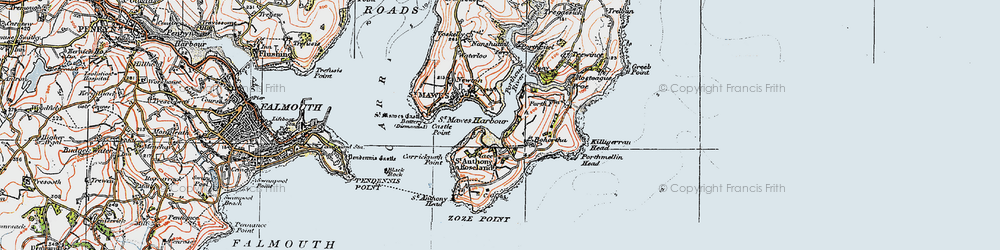 Old map of St Anthony in 1919