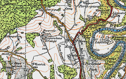 Old map of Wynd Cliff in 1919