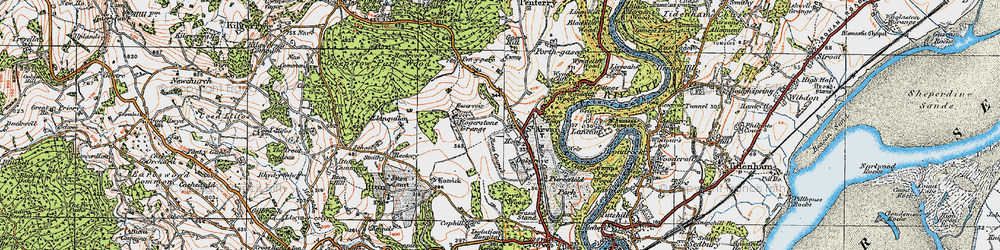 Old map of Wyndcliffe Court in 1919