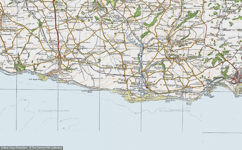 Old Map of St Athan, 1922 in 1922