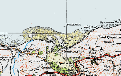 Old map of St Audrie's Bay in 1919