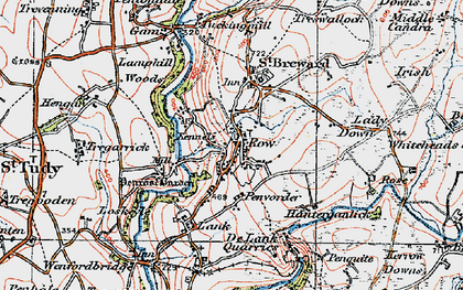 Old map of St Breward in 1919