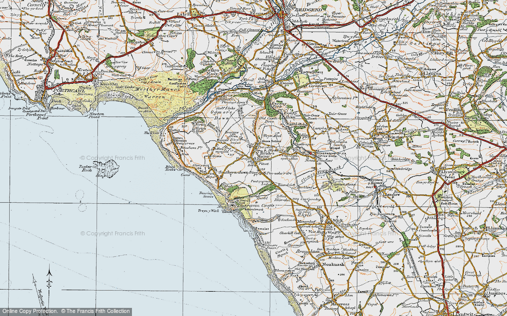 Old Map of St Brides Major, 1922 in 1922