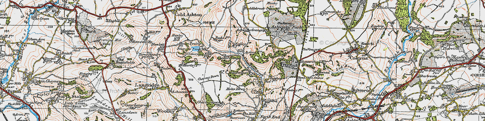 Old map of St Catherine in 1919