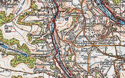 Old map of Atcombe Court in 1919