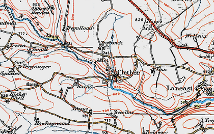 Old map of Abbott's Hendra in 1919