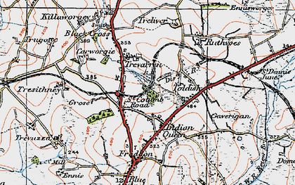 Old map of St Columb Road in 1919