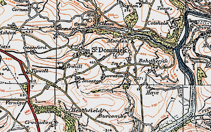 Old map of St Dominick in 1919