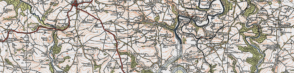 Old map of Burraton in 1919