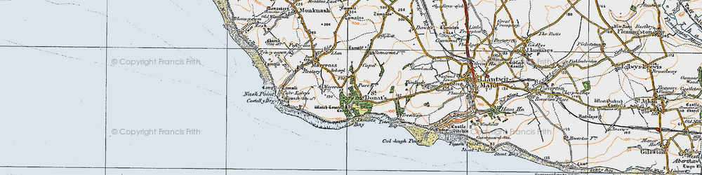 Old map of St Donat's in 1922