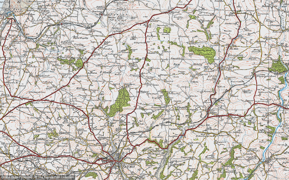 Old Map of Historic Map covering Laniley in 1919
