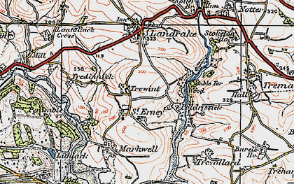 Old map of St Erney in 1919
