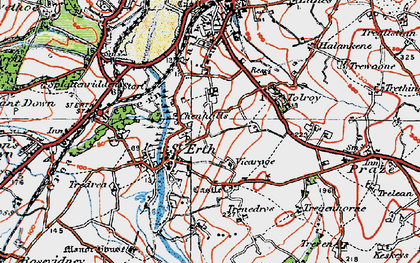 Old map of St Erth in 1919
