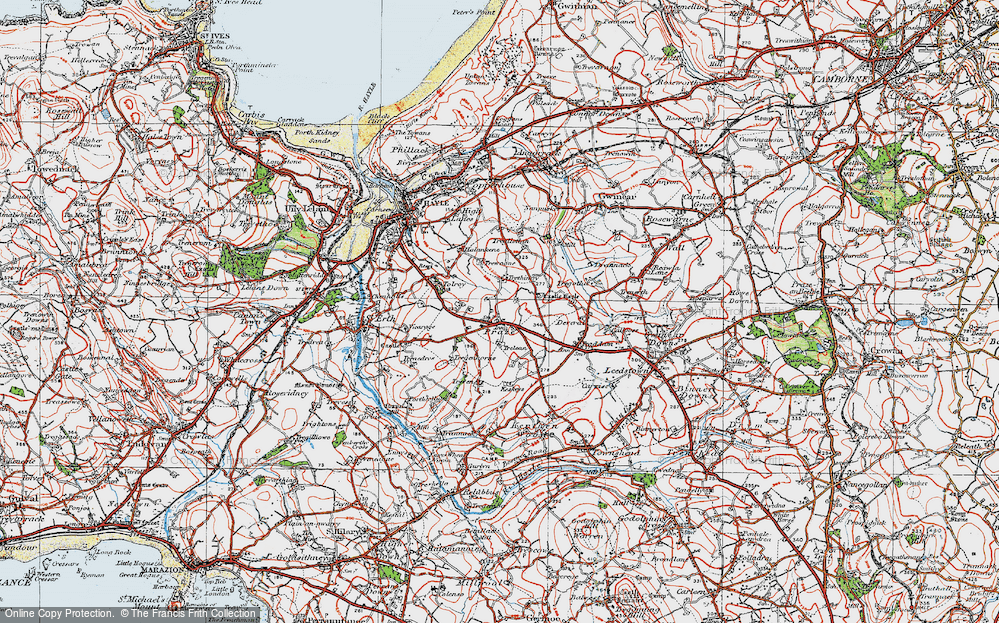 Old Map of Historic Map covering Tolroy in 1919