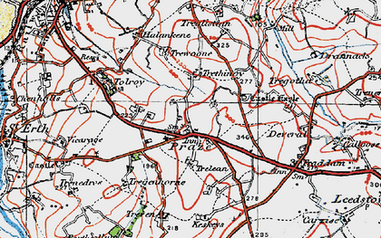 Old map of Tolroy in 1919