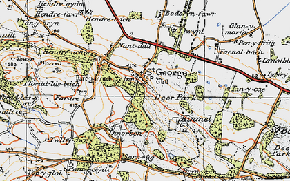 Old map of St George in 1922