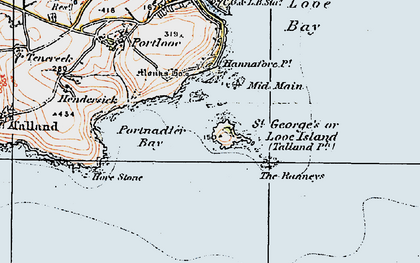 Old map of St George's in 1919