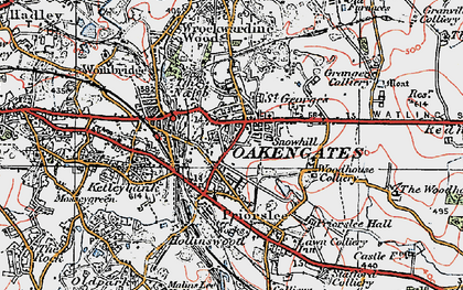 Old map of St George's in 1921