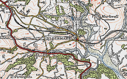 Old map of St Germans in 1919
